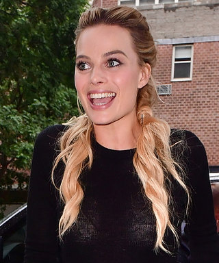 Margot Robbie Wows in Black and White Outfits in N.Y.C.