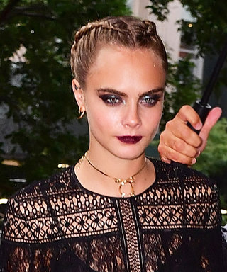 Cara Delevingne Amps Up Her Suicide Squad Promo Tour Style with a Daringly Sheer Look