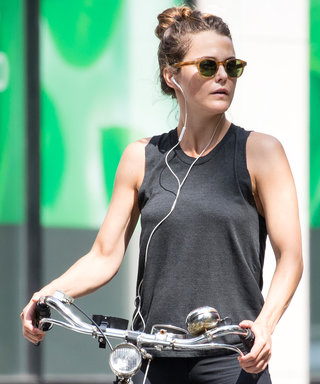 Keri Russell Shows Off Her Fit Physique While Biking Through N.Y.C.