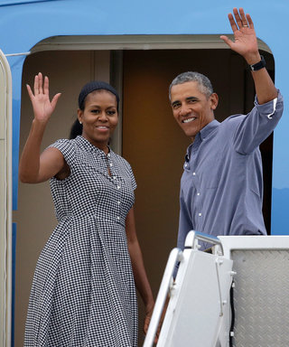 The Obamas Look Refreshed While Returning from Vacation on Martha's Vineyard