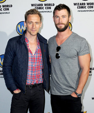 Chris Hemsworth and Tom Hiddleston Visit Young Fans at Australian Children's Hospital