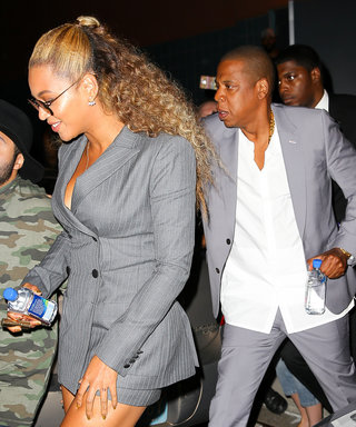 Beyoncé and Jay Z Take Power Dressing to New Heights in Coordinating Suits at Hands of Stone Premiere in N.Y.C.