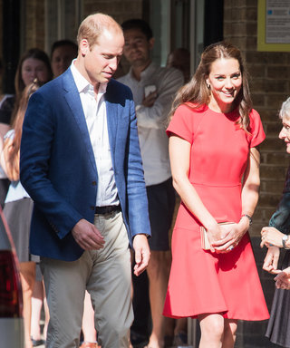 Kate Middleton Radiates in Red While Attending a Helpline Training Session with Prince William
