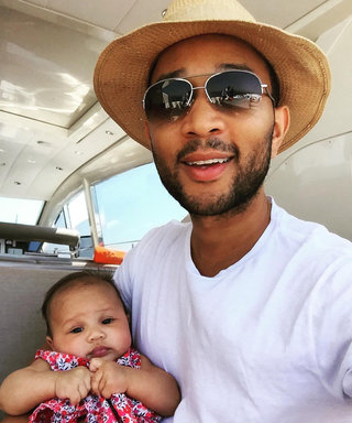 Doting Dad John Legend Plants a Kiss on Baby Luna in the Sweetest Snap