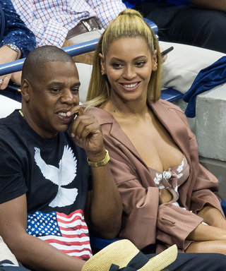 Beyoncé Wears a Blush Bustier-Style Top for Her U.S. Open Date Night with Jay Z