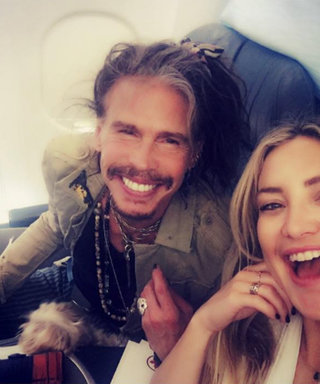 Kate Hudson and Steven Tyler Document Plane Run-In with Cute Selfie