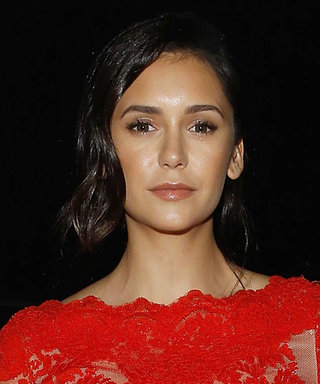 Nina Dobrev Is the Real-Life Dancing Girl Emoji at Marchesa's NYFW Show