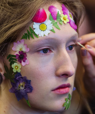 Put Down Your Flower Crowns—It's All About Face Flowers Now