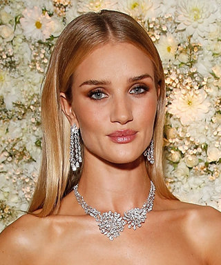 Rosie Huntington-Whiteley Steps Out in a Sexy Sheer Bustier and Diamonds Galore