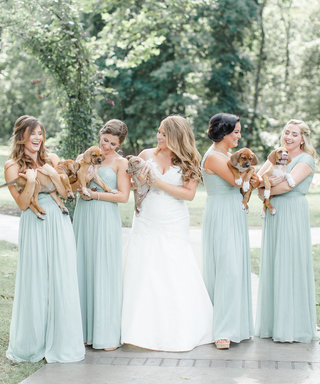 This Couple Proves Puppies Are in and Flowers Are Out
