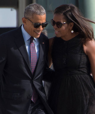 Barack and Michelle Obama Look More in Love Than Ever While Embracing at N.Y.C. Airport