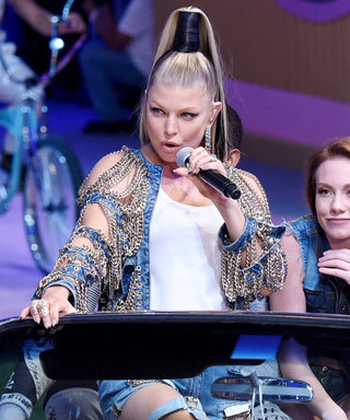 Fergie Performs in a Retro Convertible at Philipp Plein's Carnival-Themed #MFW Show