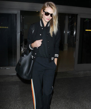 Rosie Huntington-Whiteley Takes Athleisure to a Whole New Level at LAX