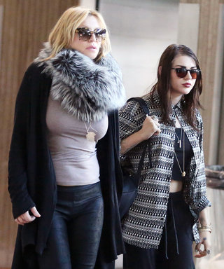 Courtney Love and Frances Bean Cobain Show Off Their Edgy Jet-Setter Styles in Paris