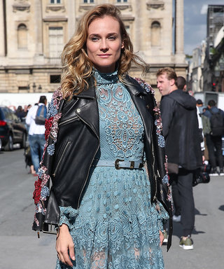Diane Kruger Is Lovely in Lace at Elie Saab's PFW Runway Show