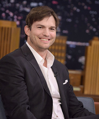 Watch Ashton Kutcher Accidentally Rip His Pants While Talking About His Daughter Wyatt on The Tonight Show