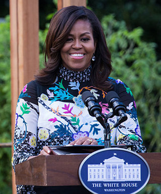 See Michelle Obama's Flawless Business-Casual Style for the White House Kitchen Garden Dedication