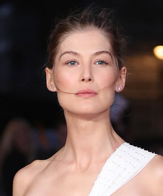 Rosamund Pike Pairs Her Givenchy Gown with Tuxedo Pants