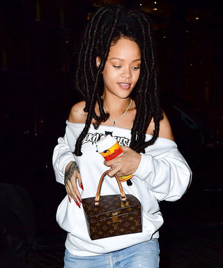 Rihanna Takes the Off-the-Shoulder Trend to the Next Level in New York City