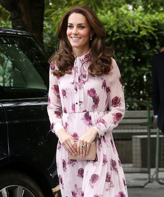 Kate Middleton Is Fall Floral Perfection in a Pastel Pink Tie-Neck Dress