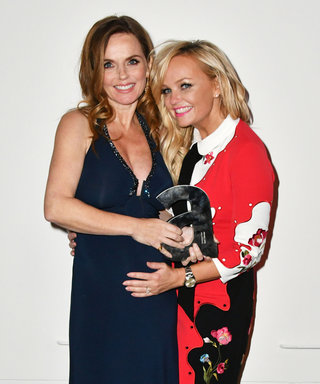 Geri Halliwell Shows Off Her Baby Bump While Having a Mini Spice Girls Reunion with Emma Bunton