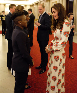 Kate Middleton Dazzles in Alexander McQueen to Welcome Olympic Champions to Buckingham Palace