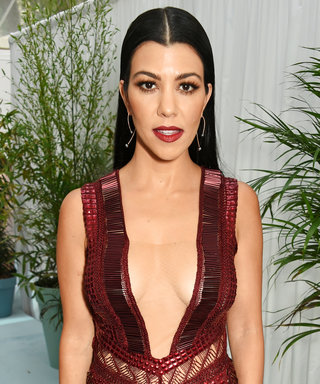 Kourtney Kardashian Flashes Her Lacy Bra During a Steamy Photo Shoot