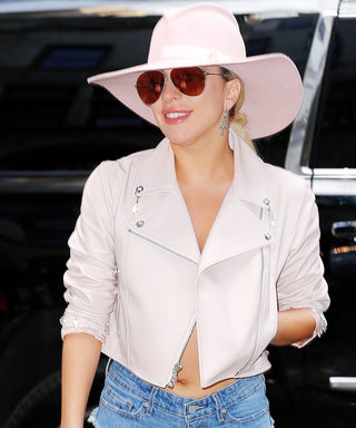 Lady Gaga Hits N.Y.C. in Denim Underwear and Matching Thigh-High Boots