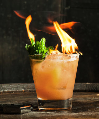 This Halloween Cocktail Is Literally Lit