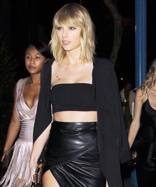 Taylor Swift Bares Serious Leg in a High-Slit Skirt for Drake's 30th Birthday Party