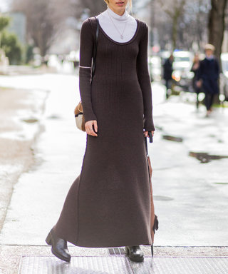 PARIS, FRANCE - March 07:  Veronika Heilbrunner wearing a brown dress outside Giambattista Valli  during the Paris Fashion Week Womenswear Fall/Winter 2016/2017 on March 7, 2016 in Paris, France.  (Photo by Christian Vierig/Getty Images)