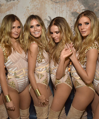 Heidi Klum Creates 5 Clones of Herself for Halloween