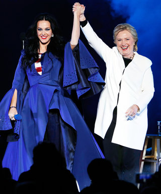 Katy Perry Proves She's a Patriotic Superhero in a Pro-Hillary Cape