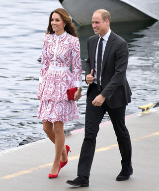 VANCOUVER, BC - SEPTEMBER 25:  Catherine, Duchess of Cambridge and Prince William, Duke of Cambridge arrive at the Vancouver Harbour Flight Centre by seaplane to meet dignitaries on September 25, 2016 in Vancouver, Canada.  (Photo by Karwai Tang/WireImage