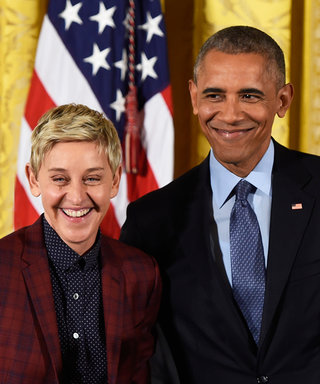 Ellen DeGeneres Tears Up Receiving the Medal of Freedom