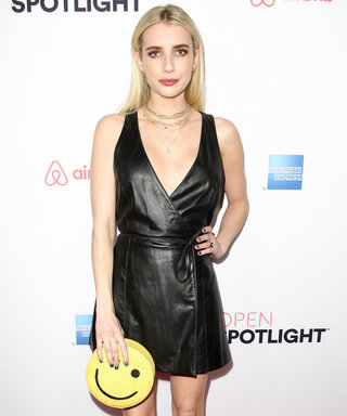Emma Roberts's Emoji Clutch Is the Ultimate LBD Accessory