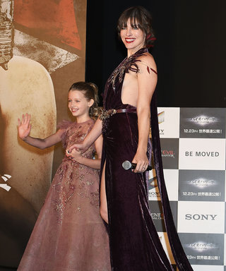 Milla Jovovich Masters Red Carpet Twinning with Daughter Ever