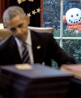 President Obama Got Pranked by a Snowman and the Photos Are Too Good