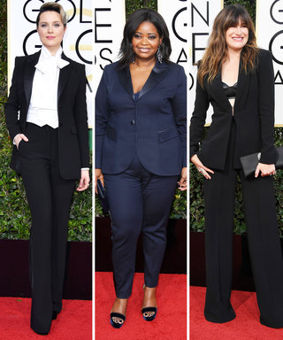 The 3 Badass Women Who Wore Pantsuits at the 2017 Golden Globes
