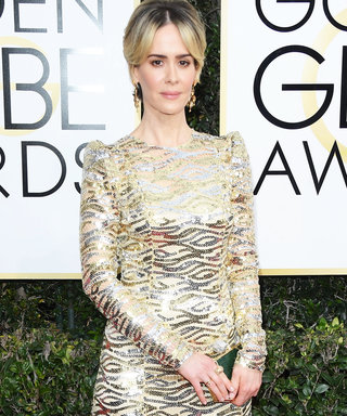 You'll Never Guess Who Inspired Sarah Paulson's Golden Globes Look