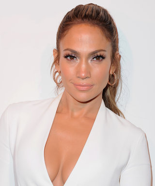 J.Lo Makes a White Hot Statement at Her Giuseppe Zanotti Shoe Launch
