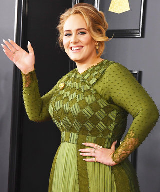 Adele's Glassy Grammy Manicure Is Pitch-Perfect