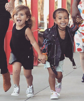 North West & Penelope Disick Hold Hands on Adorable Play Date