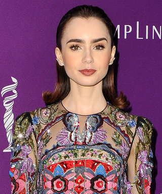 Lily Collins Is Pure Elegance in This Semi-Sheer Gown