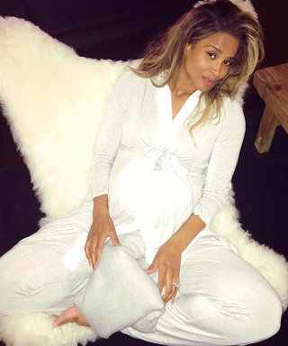Ciara's Fresh-Faced, Cozy Angelic Maternity Style