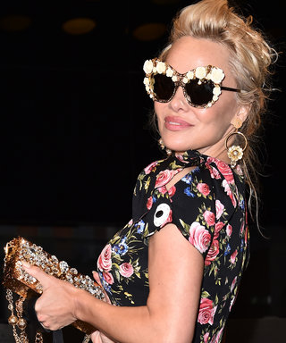 Pamela Anderson Is a Vision in Flowers