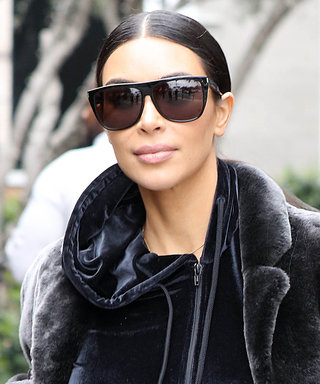 We Want to Wrap Ourselves Up in Kim K.'s Plush Teddy Bear Coat
