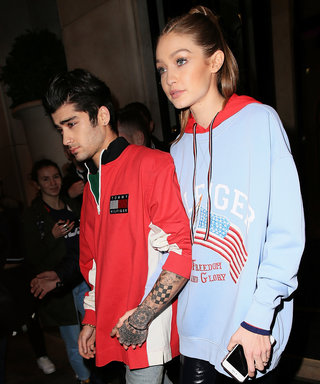 Gigi Hadid and Zayn Malik Are #Twinning in Preppy Tommy Hilfiger Sweatshirts
