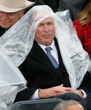 Ellen DeGeneres Teaches President Bush How to Put on a Poncho