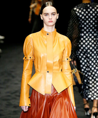 Loewe's PFW Runway Look Demonstrates How to Master a Head-to-Toe Leather Outfit